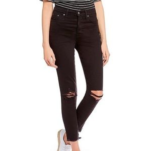 Levi's wedgie skinny high rise black jeans 24